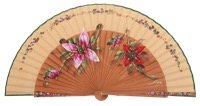 Fantasy pear wooden fan 3347AVE