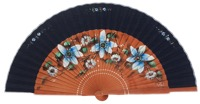 Fantasy pear wooden fan 3363MAR