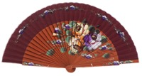 Fantasy pear wooden fan 3388GRA