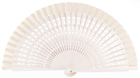 Wooden fan in colors 4013BLA