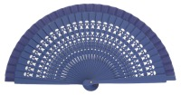 Wooden fan in colors 4013VIO