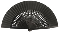 Wooden fan in colors 4056NEG