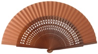 Wooden fan in colors 4056NOG