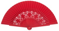 Wooden fan in colors 4058ROJ