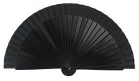 Wooden fan in colors 4063NEG