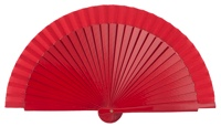 Wooden fan in colors 4063ROJ