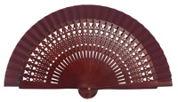Wooden fan in colors 4064GRA