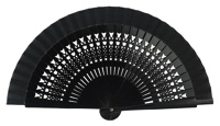 Wooden fan in colors 4064NEG