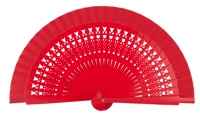 Wooden fan in colors 4064ROJ