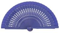 Wooden fan in colors 4064VIO