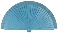 Wooden fan in colors 4066TUR