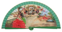 Wooden fan folklore collections 4225VER