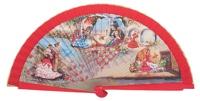 Wooden fan folklore collections 4246ROJ