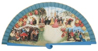 Wooden fan folklore collections 4247TUR