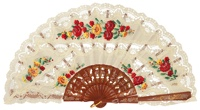 Hand painted wooden fan 4313NOG