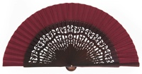 Wooden fan in colors 4319GRA