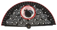 Wooden fan folklore collections 4388IMP