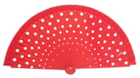 Wood fan with polka dots 4390RJB