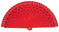 Wood fan with polka dots 4390RJN