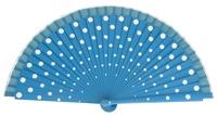 Wood fan with polka dots 4390TUB