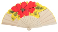 Hand painted birch wood fan 4412SUR