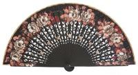 Hand painted birch wood fan 4427NEG