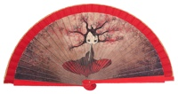 Wooden fan malaka collections 4442ROJ
