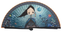 Wooden fan malaka collections 4443MAR