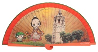 Wooden fan souvenir collections 4447IMP