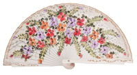 Hand painted birch wood fan 4469BLA