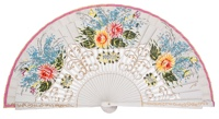 Hand painted birch wood fan 4475BLA