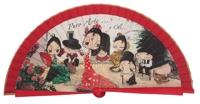 Wooden fan malaka collections 4483ROJ