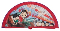 Wooden fan malaka collections 4486ROJ