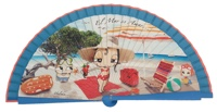 Wooden fan malaka collections 4487TUR