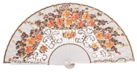 Hand painted birch wood fan 4496BLA