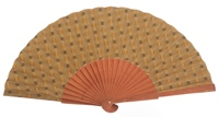 Fantasy pear wooden fan 4502SUR