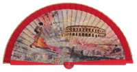 Wooden fan folklore collections 4506IMP
