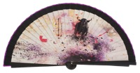 Wooden fan folklore collections 4509IMP