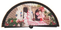 Wooden fan folklore collections 4516IMP