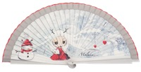 Wooden fan malaka collections 4534PLA