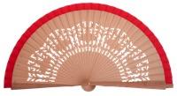 Fagus wood fan 4540ROJ