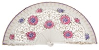 Hand painted birch wood fan 4548BLA