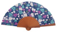 Denim pear wood fan 4561SUR