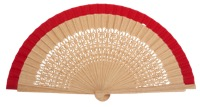 Oak wood fan 4566ROJ