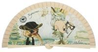 Wooden fan malaka collections 4578MFL