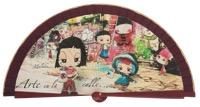 Wooden fan malaka collections 4582GRA