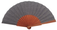 Fantasy pear wooden fan 4595GRI