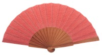 Fantasy pear wooden fan 4595ROJ