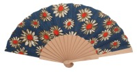 Hand painted birch wood fan 4596SUR