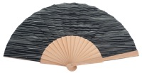 Hand painted birch wood fan 4598SUR